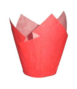 Cápsulas muffins 24 unidades Rojo