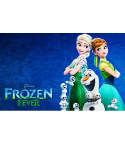 Papel de Azúcar Rectangular Frozen Fever 24x15cm