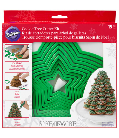 Wilton Christmas Cookie Tree Cutter Set/15