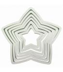 PME Cortadores Estrellas Plástico, 6u.