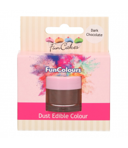 FunCakes Edible FunColours Dust - Dark Chocolate