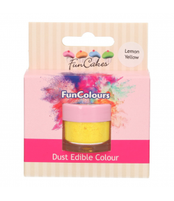 FunCakes Edible FunColours Dust - Lemon Yellow