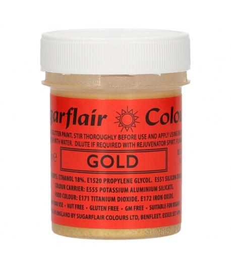 Sugarflair Edible Glitter Paint Gold 35g