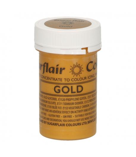 Sugarflair Paste Colour Satin GOLD 25g