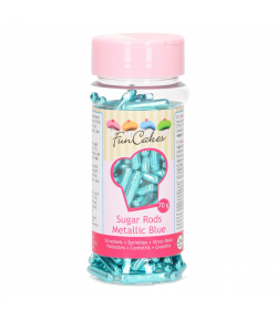 FunCakes Palitos de Azúcar XL -Azul Metalizado- 70g