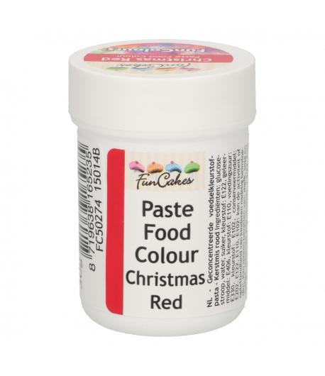 FunCakes FunColours Colorante en Pasta - Rojo Navidad 30g