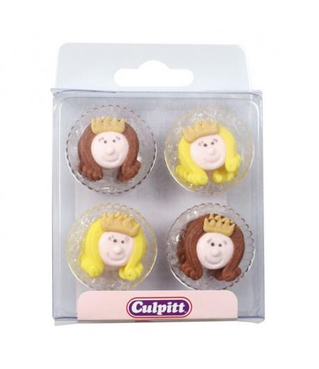Culpitt Decoraciones de Azúcar de Caritas de Princesas 12u.