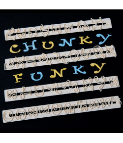 FMM Cortadores Tappit, Letras y Números Chunky Funky set/4