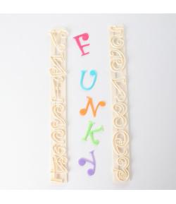 FMM Cortadores Tappit, Letras Mayúsculas y Números Funky set/6