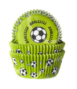 House of Marie Baking cups Soccer Green - pk/50