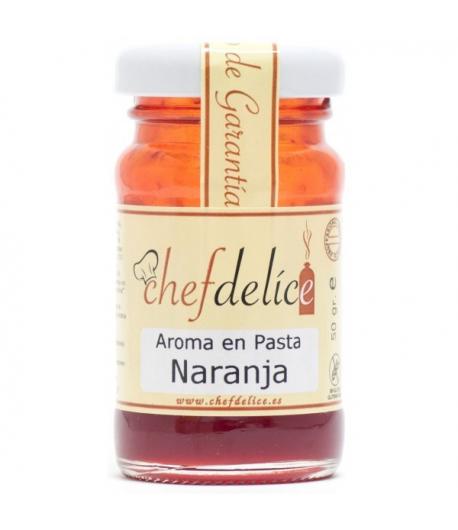 Aroma de naranja en pasta