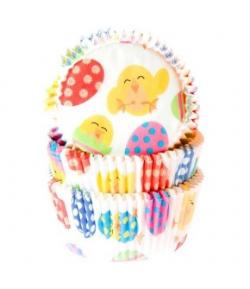 Cápsulas Para Cupcakes Pollitos De Pascua, Set 50, House Of Marie