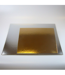 FunCakes Cake boards silver/gold SQUARE 30 cm. - und.