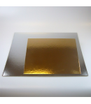 FunCakes Cake boards silver/gold SQUARE 30 cm. - und.