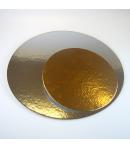 FunCakes Cake boards silver/gold ROUND 16cm - und.