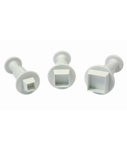 PME Miniature Square Plunger Cutter set/3