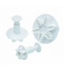 Set de 3 cortadores de copo de nieve