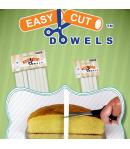 PME Easy Cut Dowels, Soportes Tartas -30cm- 4u.