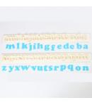 FMM Cortadores Tappit, Alfabeto Art Deco Minúscula set/2