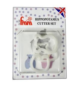 FMM Mamá y Bebé Hipopótamo, 4u.