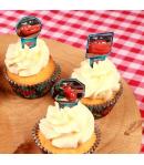 Stor Toppers para Cupcakes Cars, 24u.