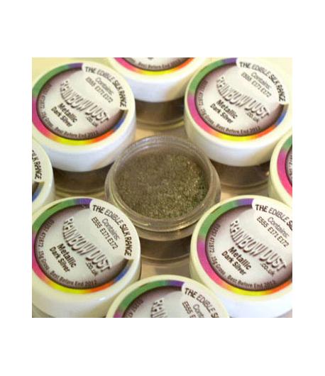 RD Edible Silk - Metallic Dark Silver -3g-