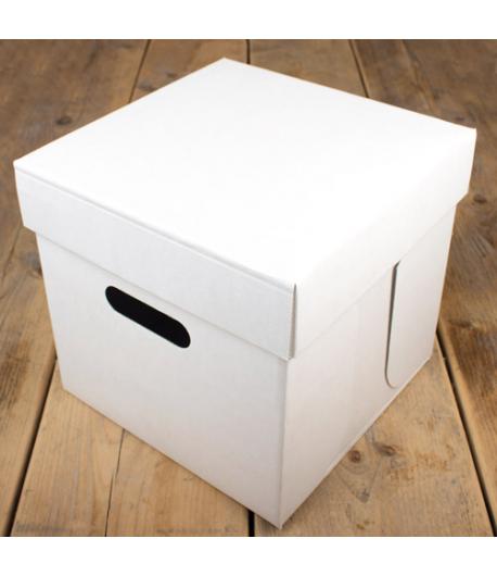 FunCakes Caja Tartas -Blancas 25.5x25.5x25cm, 1u.