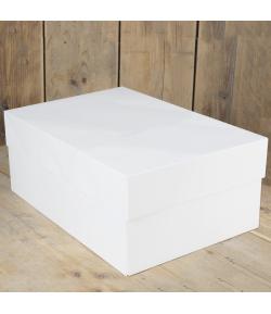 FunCakes Caja para Tartas, Blanca. 40x30x15cm. 1u.
