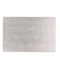 Pastkolor Base para Tartas Rectangular, Plata 40.5x30.5cm Grosor 12mm.