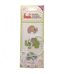 FMM Cortador, Mamá y Bebé Elefante Set/4