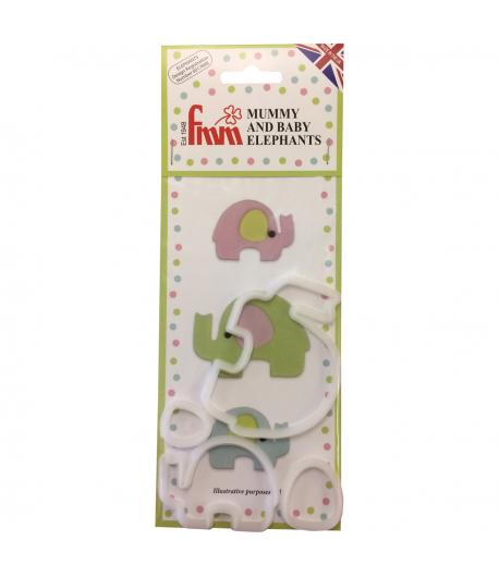 FMM Cortadores Mamá y Bebé Elefante Set/4