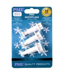 PME Mini Cortadores con Expulsor, Copos de Nieve Set/3