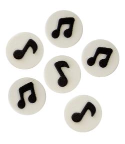 PME Decoraciones de Azúcar - Notas musicales, 6 ud.