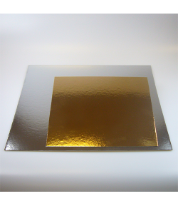 FunCakes Bases de Cartón Plata/Oro Cuadrada 35cm, 1u