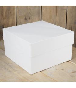 FunCakes Caja para Tartas, Blanca 25x25x15cm. 1u.