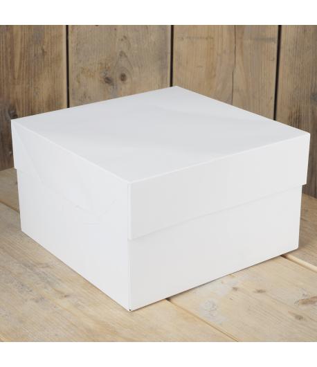 FunCakes Caja Tarta -Blanca 25x25x15cm- 1u.
