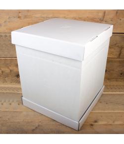 FunCakes Caja Tartas -Blancas 37x37x45cm, 1u.