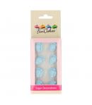 FunCakes Set Decoraciones Azúcar Pies Bebé Azules, 16u.