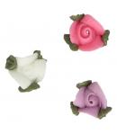 FunCakes Set Decoraciones de Azúcar Rosas con Hojas, 16u.