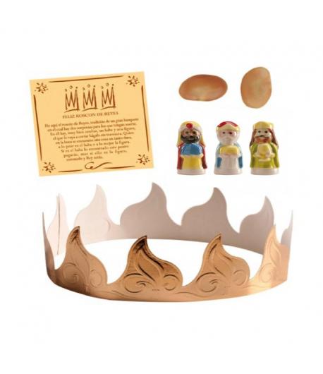 Set roscón 3 Corona - Haba - Rey simpático