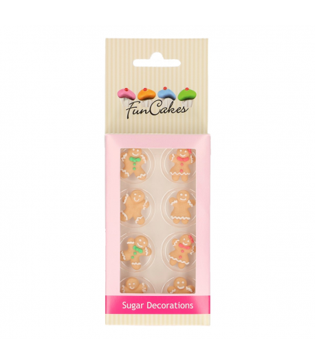 FunCakes Set Decoraciones de Azúcar Muñeco Jengibre, 8u.