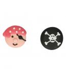 FunCakes Set Decoraciones de Azúcar Piratas, 8u.