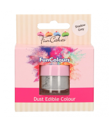 FunCakes Edible FunColours Dust - Shadow Grey