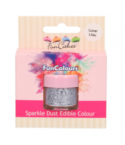 FunCakes Purpurina Comestible, Lunar Lilac 3,5gr.
