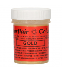 Sugarflair Pintura Comestible Brillo Oro 35 G