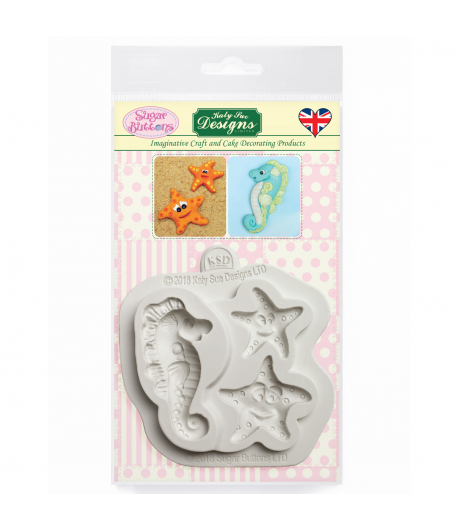 Katy Sue Molde Sugar Buttons - Estrella y Caballo de Mar