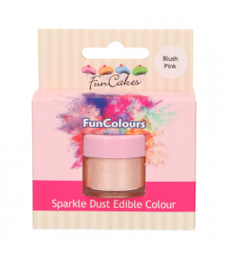 FunCakes Purpurina Comestible, Blush Pink 3,5gr.