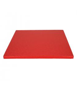 FunCakes Base para Tartas Cuadrada, Roja 30,5cm. Grosor 12mm.
