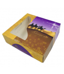 Caja Para Roscon Reyes De Oriente 29x29x8 Cm