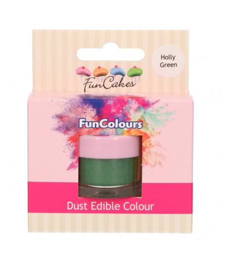 FunCakes Edible FunColours Dust - Holly Green
